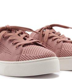 Tênis Knit Cadarço Flatform Pink Lavender