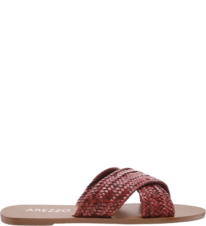 Chinelo Tiras Trança Berry