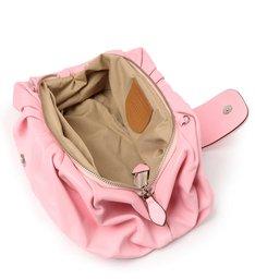 Bolsa Tiracolo Rosa Grande de Couro Fiore