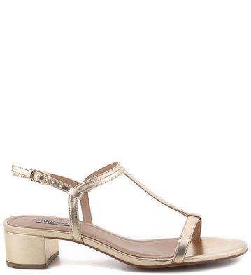 Sandália Metaliada Ouro Claro