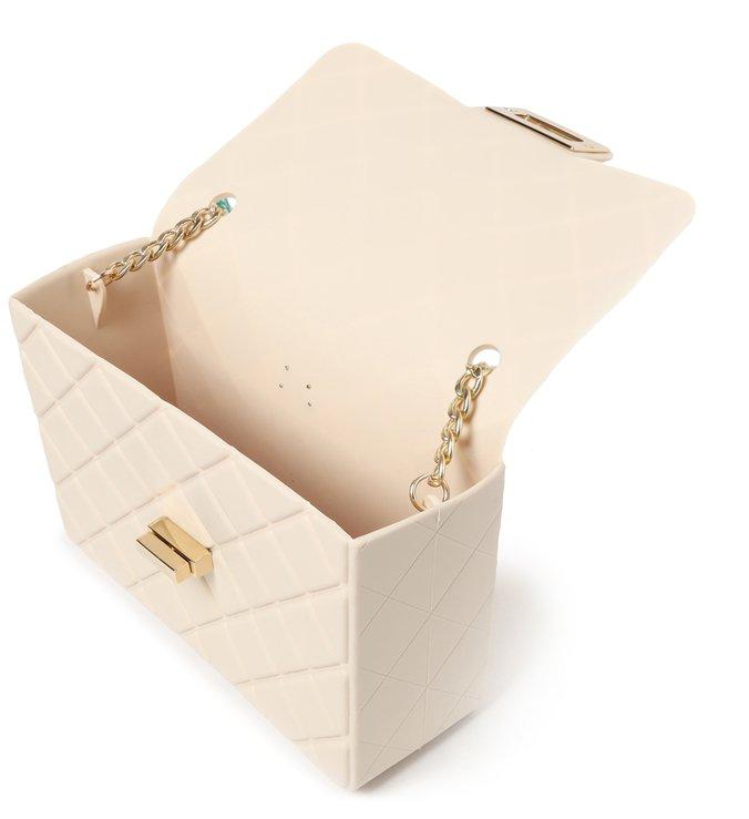 Bolsa Tiracolo Branca Plástico F.L.Ô Pequena