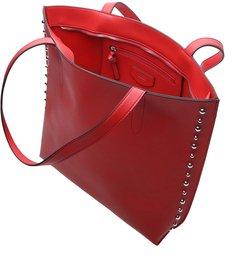 Bolsa Shopping Grande Tachas Red