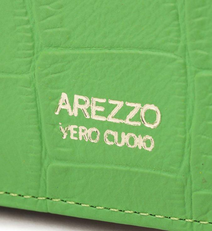 Carteira Verde Couro Croco Nina Média