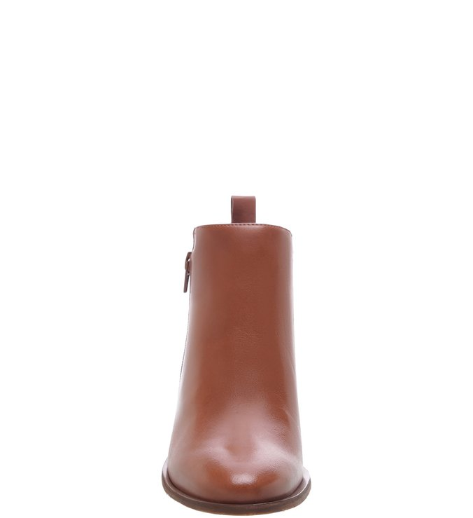 Ankle Boot Couro Toast Brown