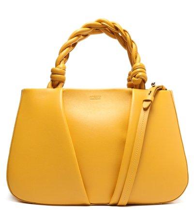 Bolsa Tote Amarela Couro Margot Grande