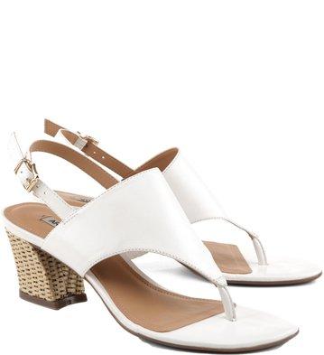 Sandália Salto Artesania Branca