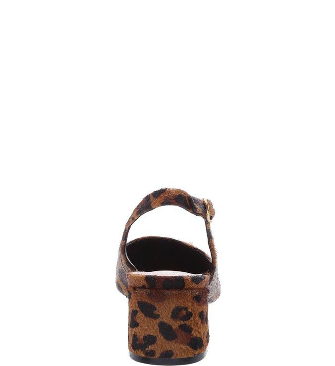 Scarpin Pelo Slingback Leopardo