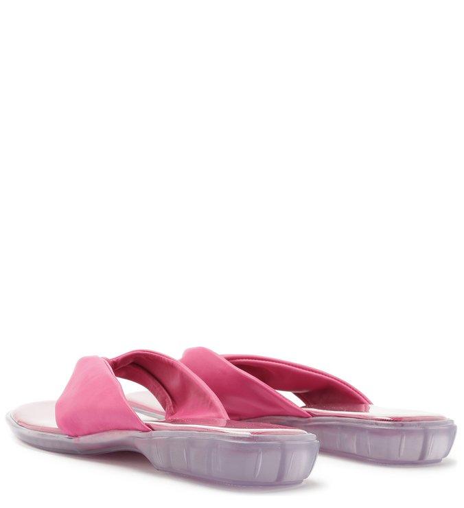 Chinelo Couro Tiras Torcidas Summer Pink