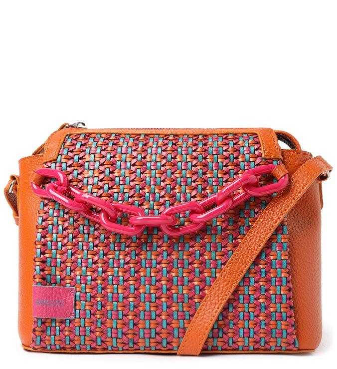 Bolsa Tiracolo Multicolorida Tressê Anita