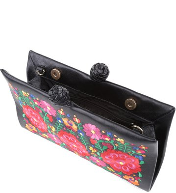Clutch Floral Negro