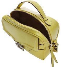 Bolsa Couro Tiracolo Pequena Carol Full Yellow