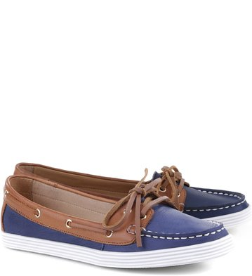 Dockside Couro Navy-Tan