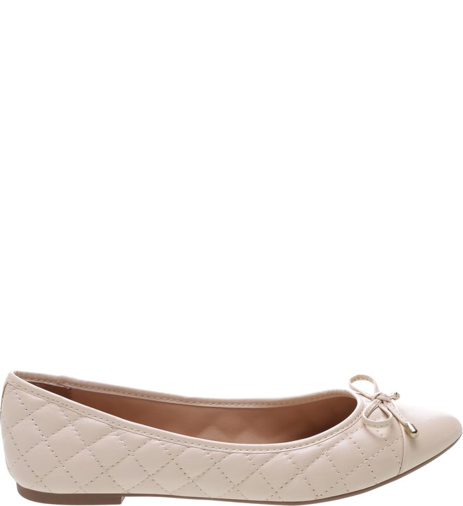 Sapatilha Matelassê Tiny Bow Off White | Arezzo