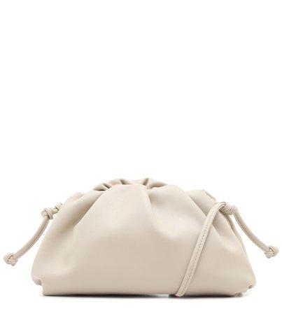Bolsa Clutch com Alça Tiracolo Off-White Pequena