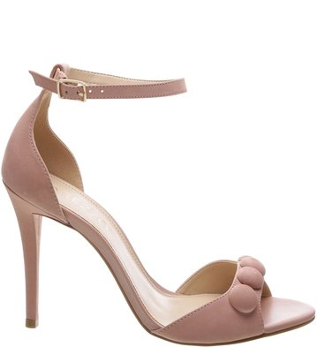 Sandália Nobuck Button Rose Blush | Arezzo