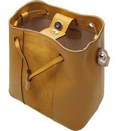 Bolsa Bucket Couro Isabel Média Gold Sun