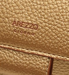 Bolsa Tiracolo Dourada Couro Florença Pequena