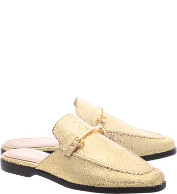Mule Flat Vintage Gold Little Metal