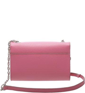 Bolsa Couro Clutch Auguri Pequena Bubble Pink