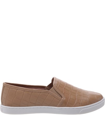 Slip-on Casual Croco Soft Avelã