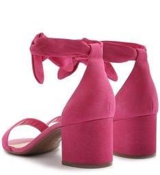 Sandália Isabelli Nobuck Lace Up Bloco Summer Pink