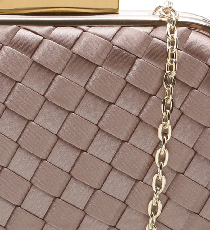 Bolsa Clutch Cetim Party Nude