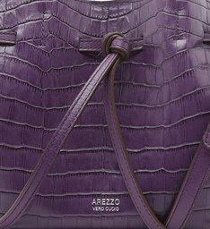 Bolsa Tote Roxa Croco Manu Média Real Purple