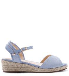 Sandália Salto Baixo Azul Jelly Blue
