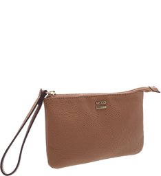 Necessaire Pequena Natural Tan