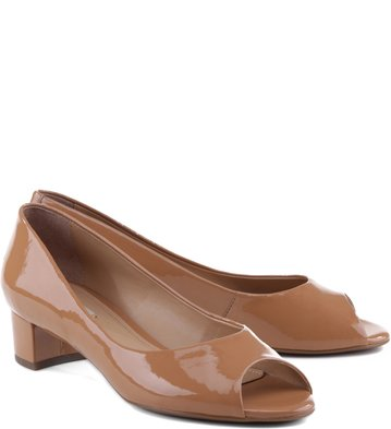 Peep Toe Verniz Blush