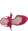 Sandália Anabela Nobuck Lace Up Lady Pink