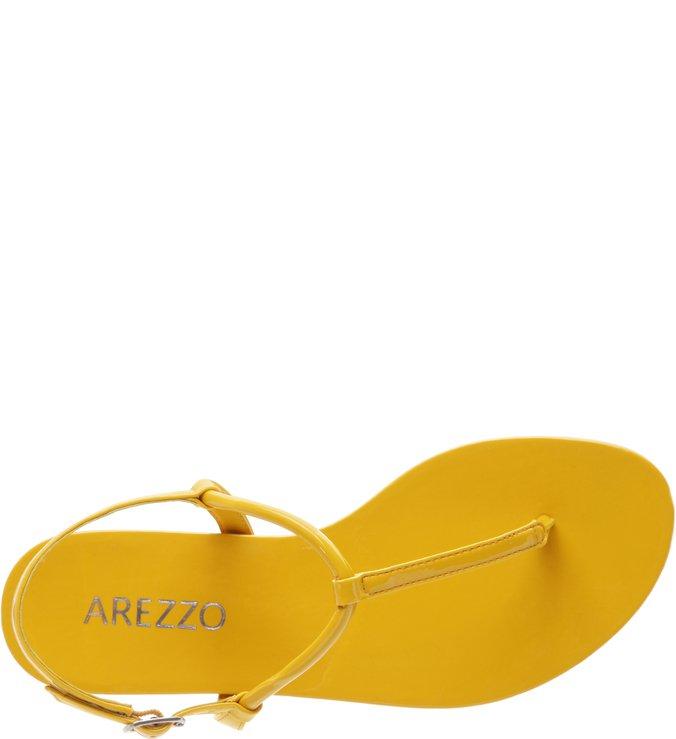 Rasteira Verniz Basics Amarela