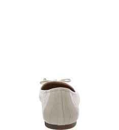 Sapatilha Croco Tiny Bow Porcelana