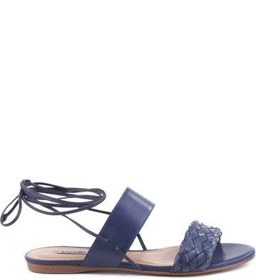 Rasteira Urban Lace Up Navy