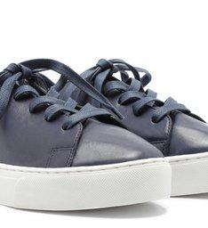 Tênis Couro Nappa Cadarço Navy Blue