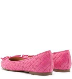 Sapatilha Matelassê Tiny Bow Pink Absolut
