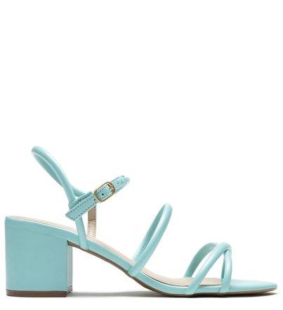 Sandália Azul Salto Bloco Maui Blue