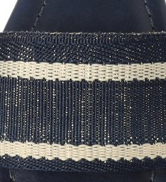 Sandália Rasteira Azul Knit Tira Larga