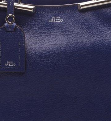 Bolsa Tiracolo Couro Média  Auguri Galaxy Blue