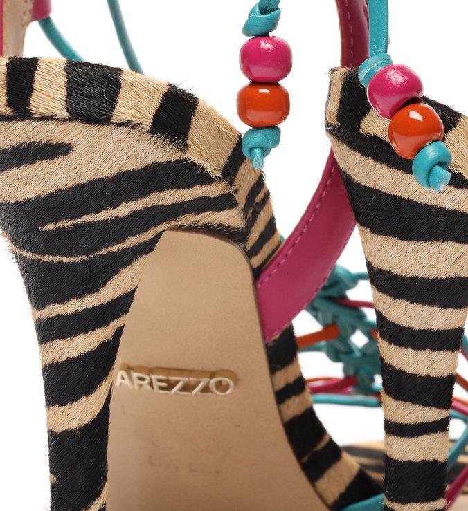 Sandália Multicolorida Animal Fun Salto Fino
