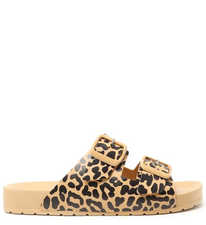 Slide Bege Animal Print Injetado Fresh
