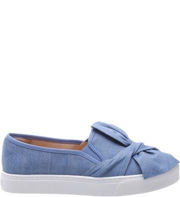 Slip-on Laço Jeans