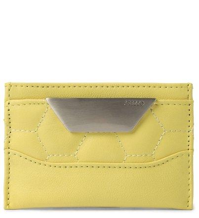 Porta-Cartões Amarelo Couro Bee.ZZ