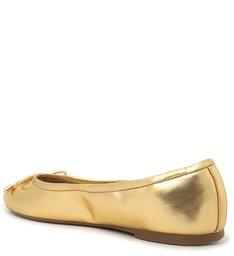 Sapatilha Dourada Couro Olívia New Golden