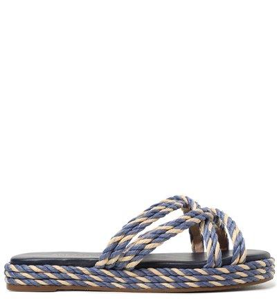 Rasteira Azul La Marina Cordão Tiras