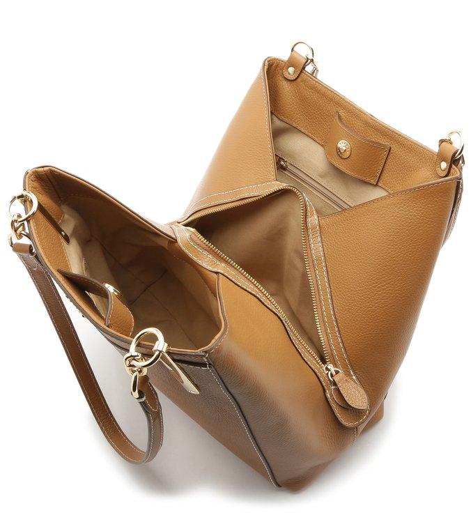Bolsa Hobo Couro Savanna Grande Natural Wood