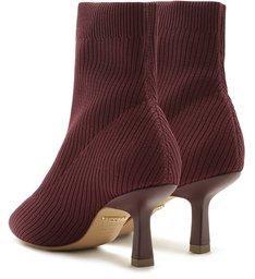 Skinny Boot Knit Salto Fino Cano Curto Raspberry