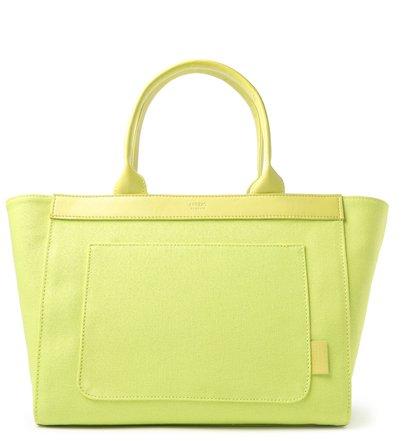 Bolsa Shopping Verde Lona Clara Grande