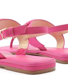 Sandália Rasteira Nobuck Fivela Pink Absolut