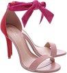 Sandália Nobuck Isabelli Lace Up Alta Lady Pink